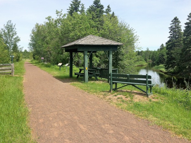 Confederation Trail and Ellis River in 2017
