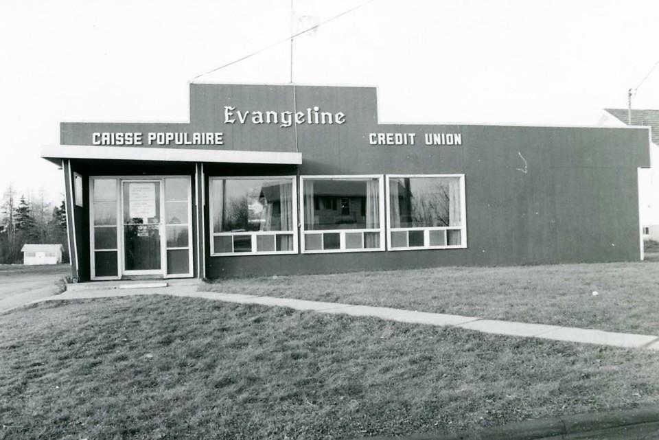 Caisse populaire ÉvangélineCredit Union in 1971
